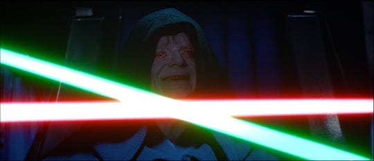 "Emperor Palpatine (Ian McDiarmid) was thought vanquished and dead at the end of 1983's ""Return of the Jedi."" But the return of his creepy laugh in the ""Rise of Skywalker"" trailer hints he might not be that gone after all."