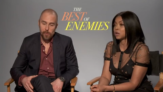 """""""Best of Enemies"""": Taraji P. Henson, Sam Rockwell, writer/director Robin Bissell and civil rights activist Bill Riddick (who is portrayed in the movie) discuss why they believe their film is so timely. (April 12)"""