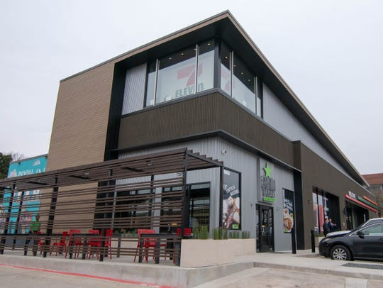 "7-Eleven has opened what it calls a ""lab store"" in Dallas, which sells upscale food and drinks."