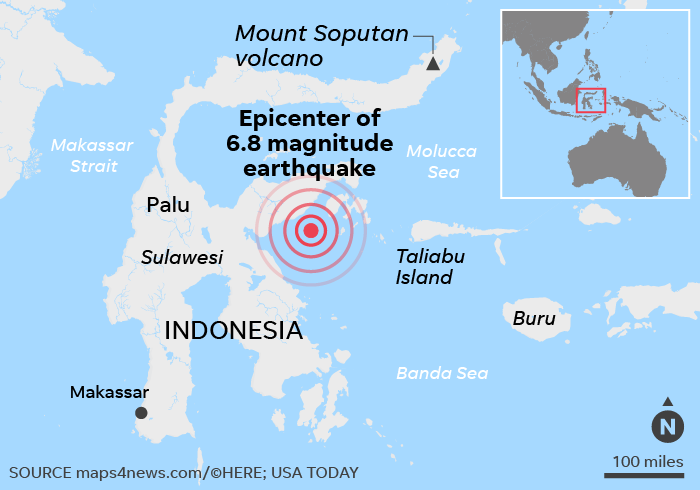 Sulawesi island earthquake: Indonesia lifts tsunami warning