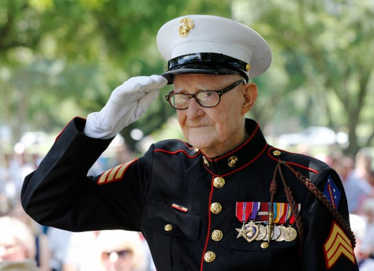 "R.V. Burgin, the U.S. Marine veteran whose book inspired HBO's miniseries ""The Pacific,"" died at 96."