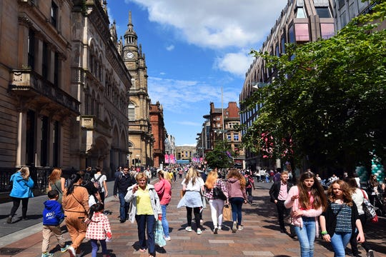 Buchanan Street is the heart of modern, commercial Glasgow — and it's a fascinating place to people-watch.