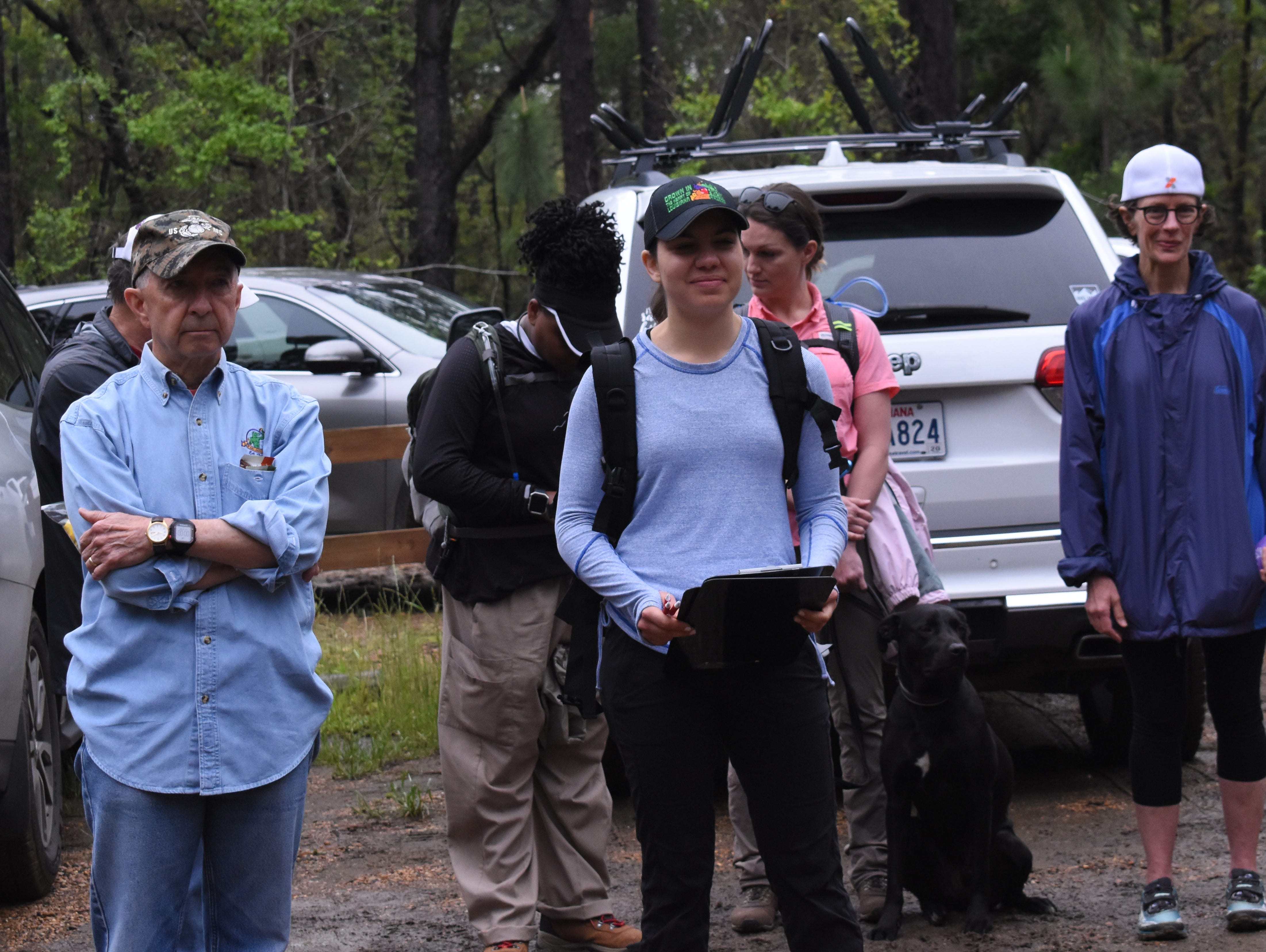 The Wild Azalea Trail (WAT) Blitz was held Saturday, April 13, 2019 with hikers from Central Louisiana, Baton Rouge, Monroe and Lafayette hiking either short, medium or long segments of the trail beginning at the Evangeline Camp WAT trailehead located on Messina Road.