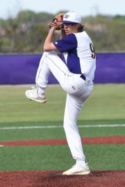 Wylie pitcher Brooks Gay (9) is part of a young staff this year. The Bulldogs started two sophomores and a freshman in the bi-district series against Lubbock-Cooper.