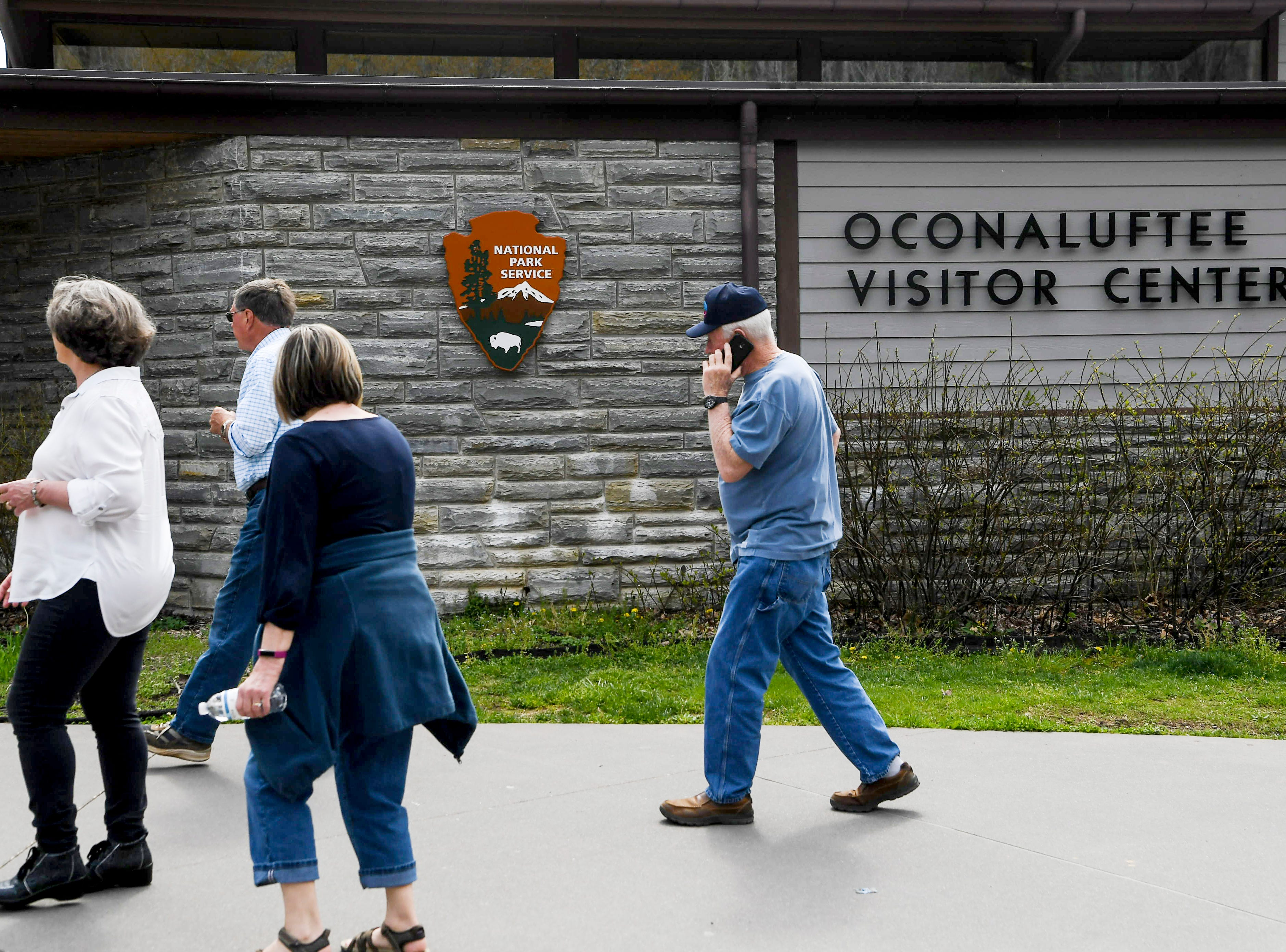 The Oconaluftee Visitor Center at Great Smoky Mountain National Park April 11, 2019.