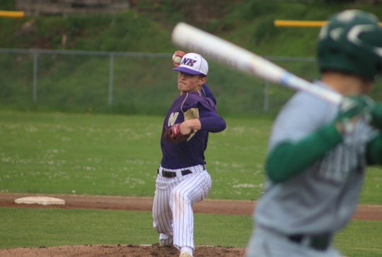 North Kitsap pitcher Isaac Richardson delivers against Port Angeles on Friday in Poulsbo.