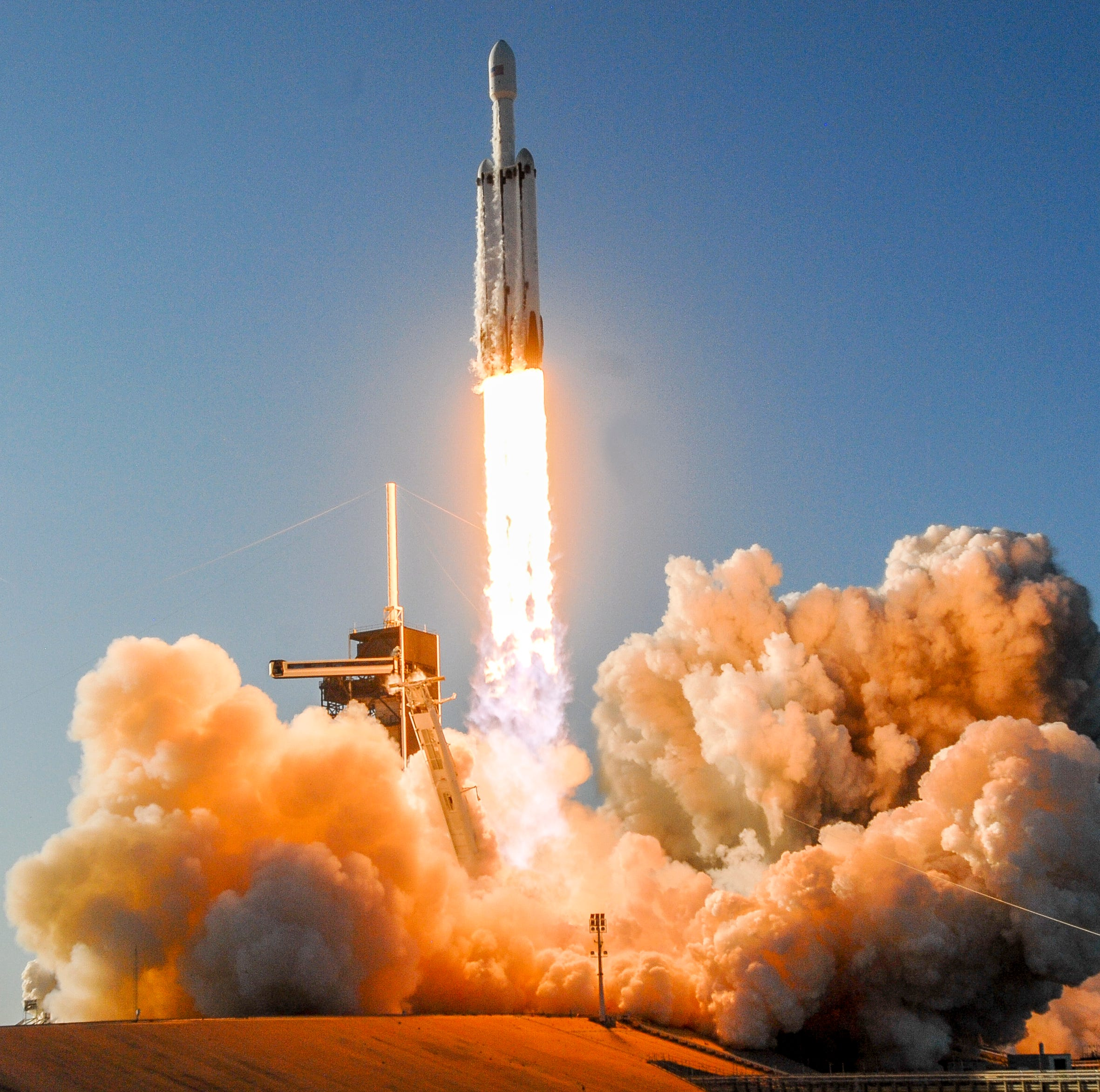 Best space photos: SpaceX Falcon Heavy launch from Kennedy Space Center
