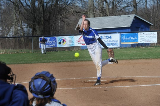 Ivy Stewart is one of multiple girls on the Crestline roster capable of pitching for the Lady Bulldogs.