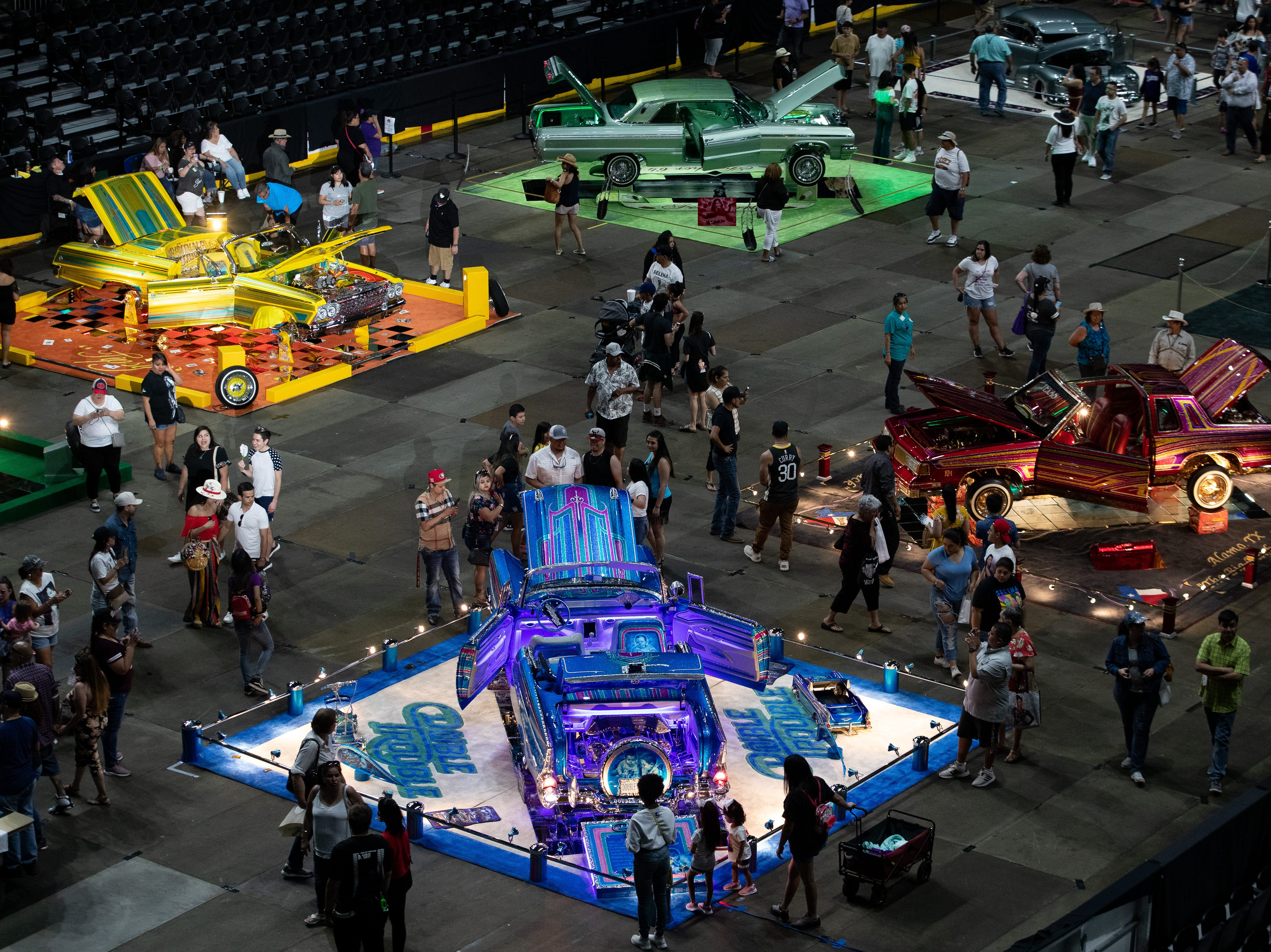 The Lowrider Extravaganza at the American bank center on the second say of Fiesta de la Flor on Saturday, April 13, 2019.