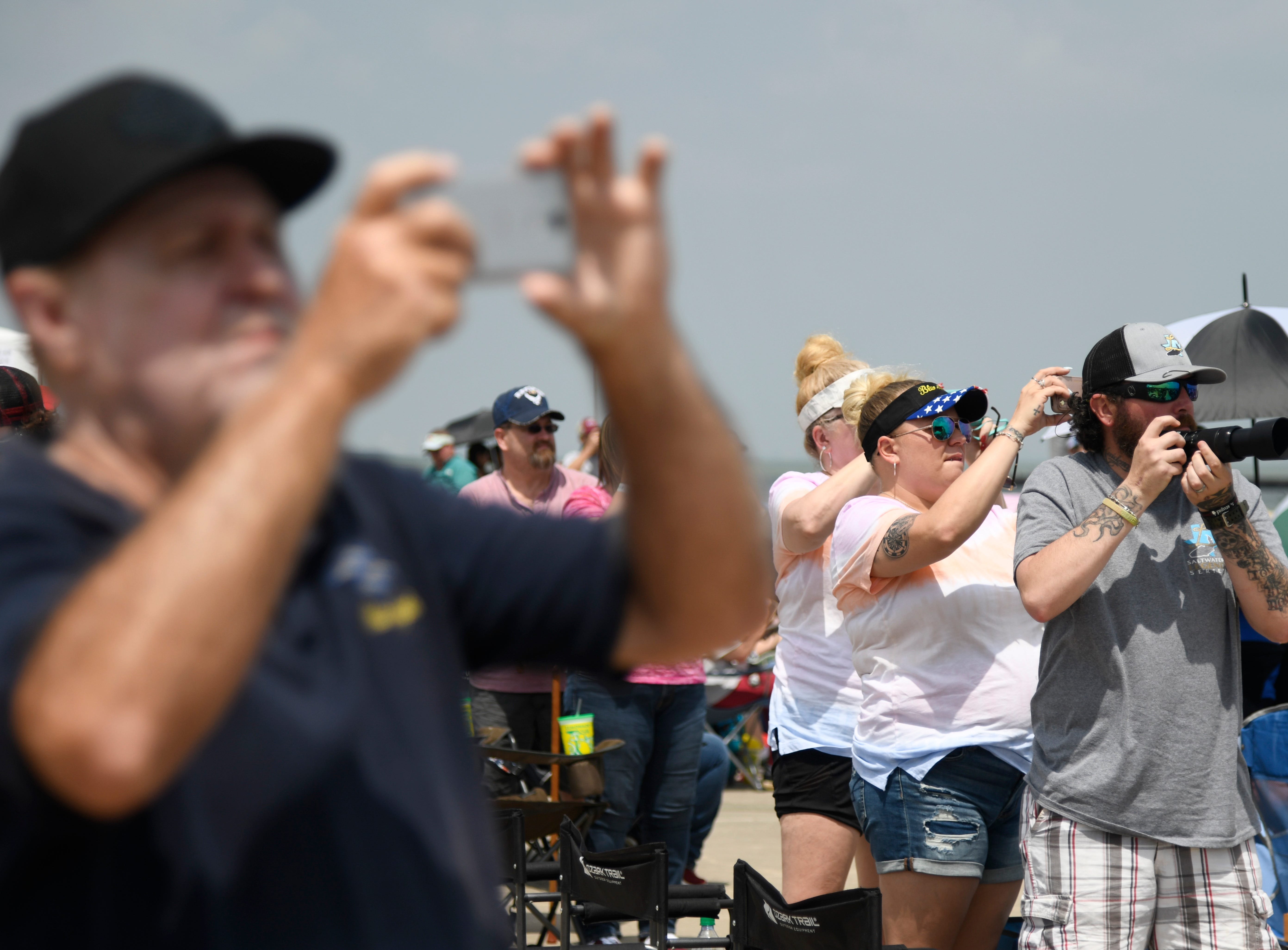 Spectators film various performances during the Wings Over South Texas Air Show, Saturday, April 13, 2019, at NAS Corpus Christi.