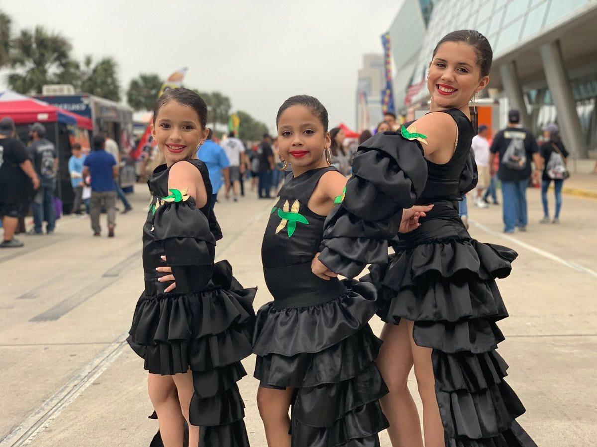 These little Selena fans strutted their best fierce look at Fiesta de la Flor in downtown Corpus Christi.