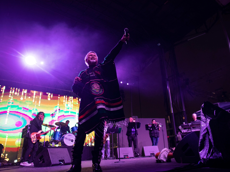 Little Joe Y LA Familia performs during the first day of Fiesta de la Flor on Friday, April 12, 2019.