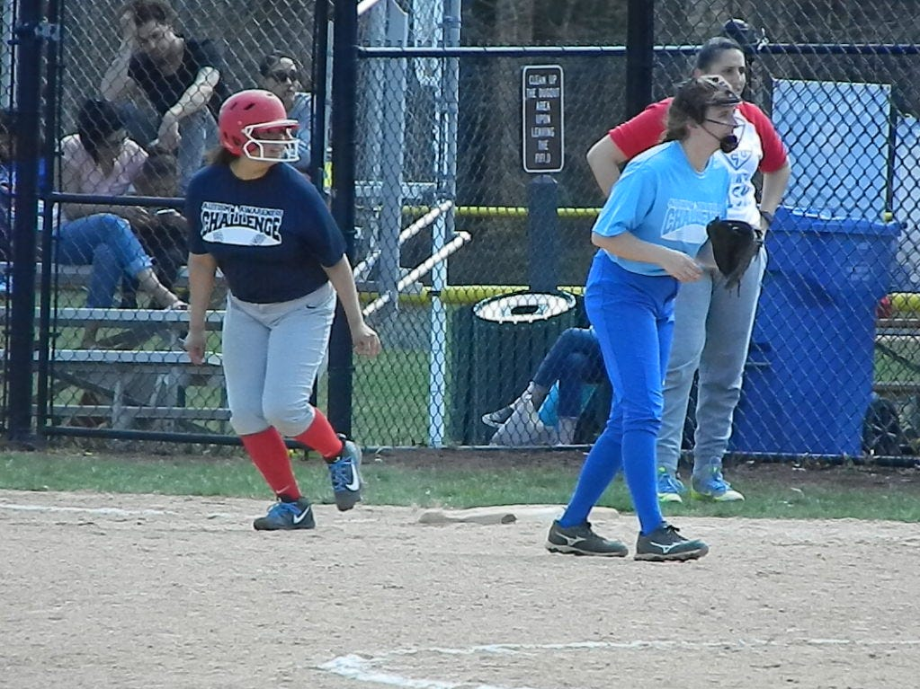 The Perth Amboy softball team plays against Sayreville in the Autism Awareness Challenge on Saturday, April 13, 2019 at North Brunswick Community Park.