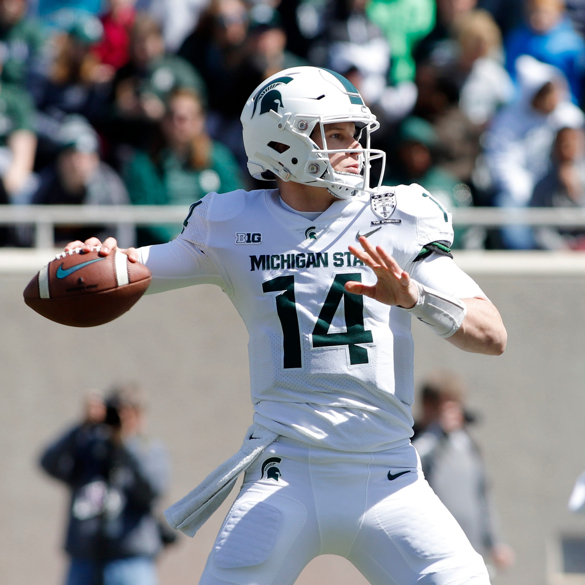 Mark Dantonio wants Michigan State QB Brian Lewerke to inspire, like he did in spring game