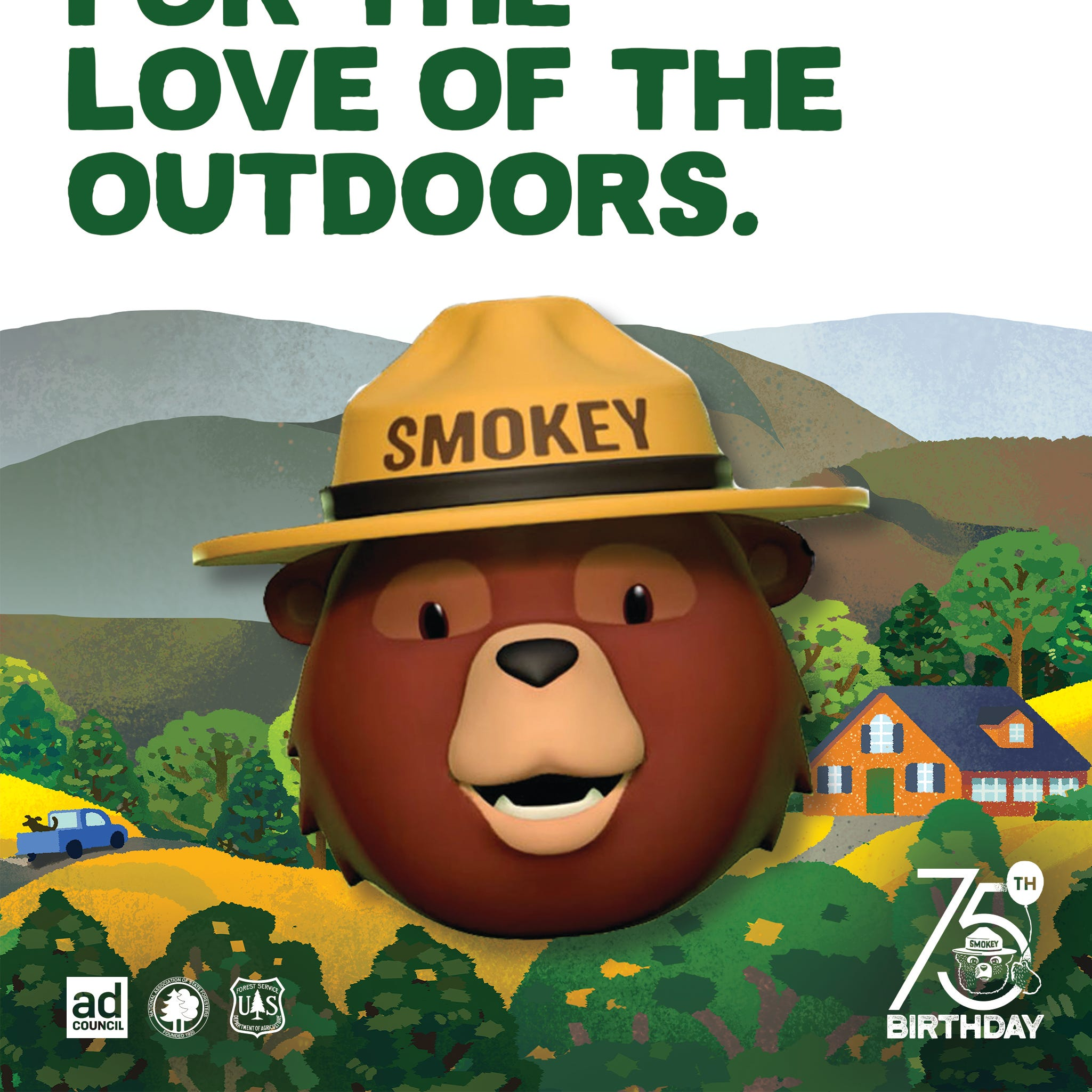 Smokey Bear gets a new voice for his 75th birthday