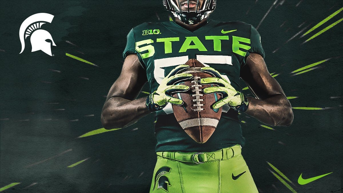 MSU unveils alternate uniforms with shades of lime green; Twitter ...