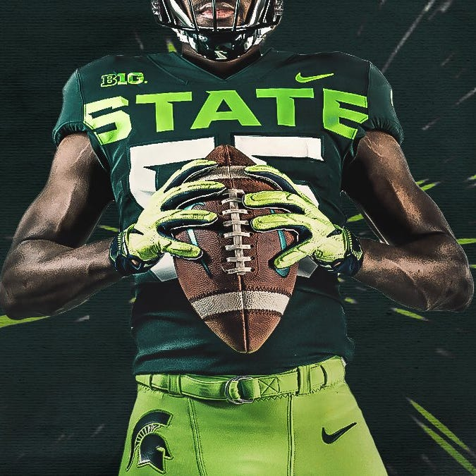 MSU unveils alternate uniforms with shades of lime green; Twitter loses its mind