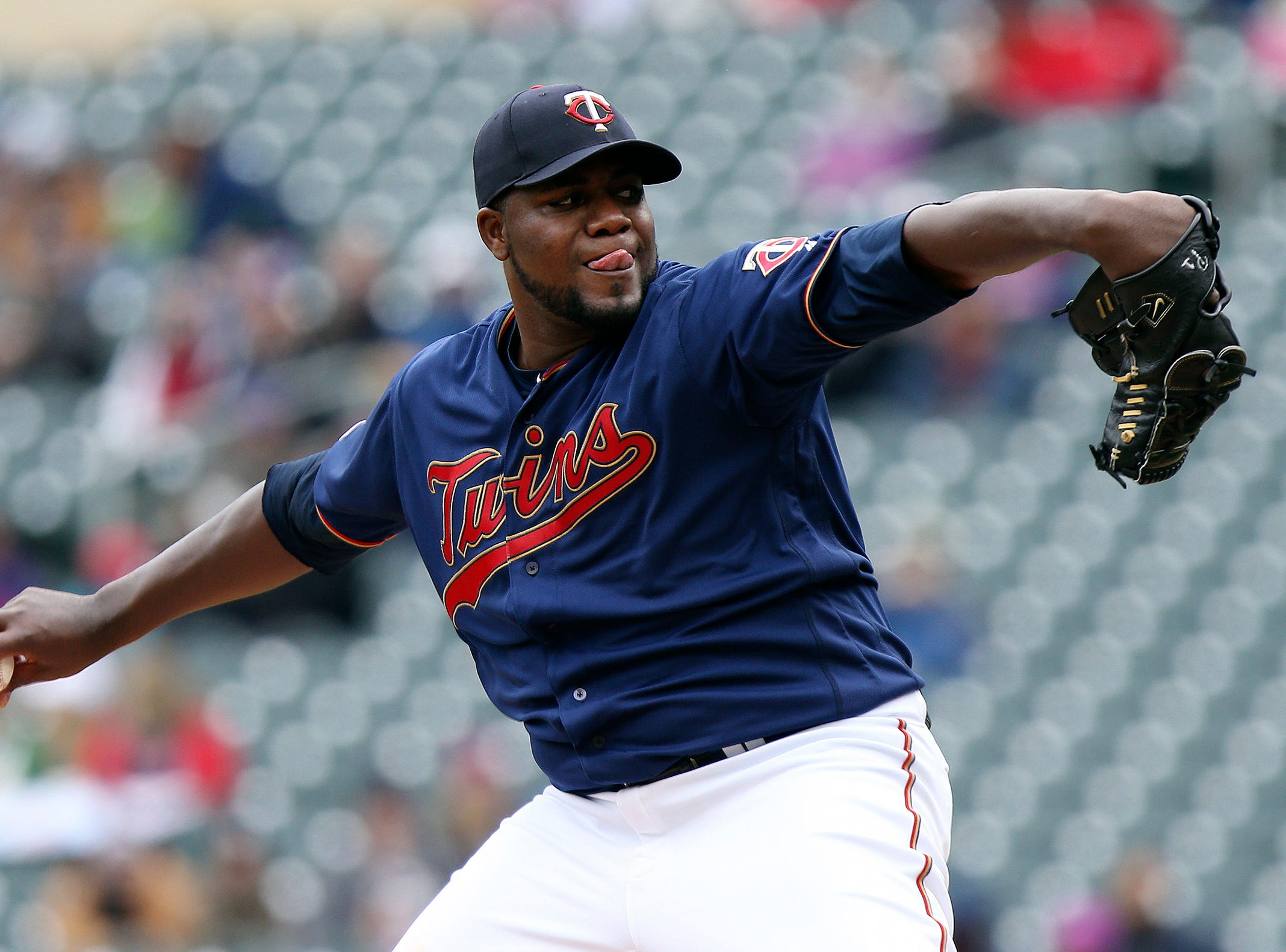 Minnesota Twins pitcher Michael Pineda throws in the first inning.