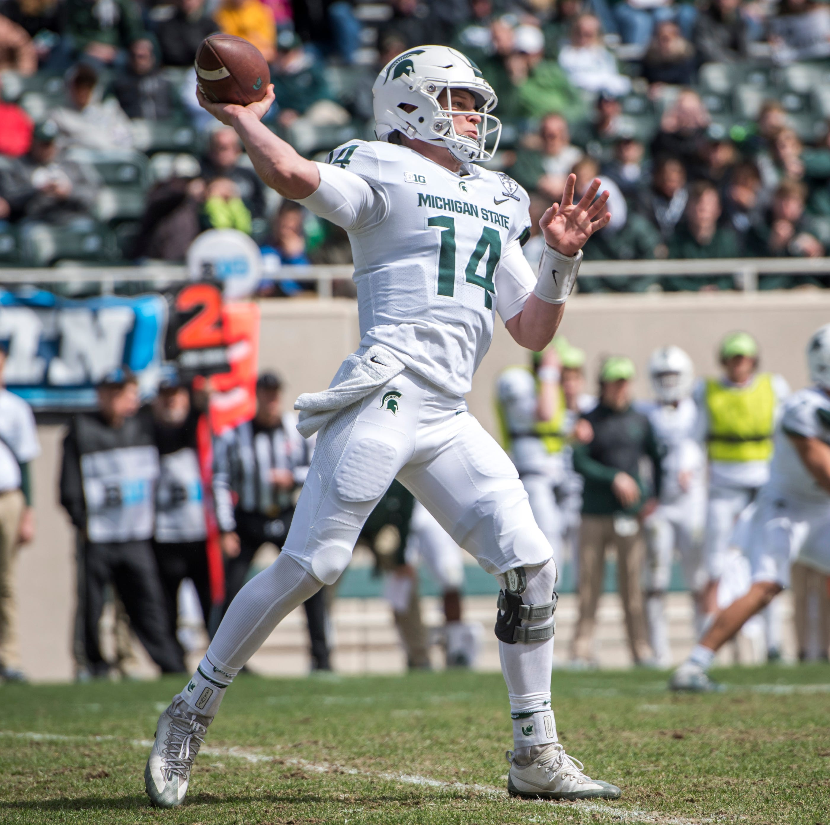 'He had good zip': Michigan State QB Brian Lewerke passes spring test in a breeze