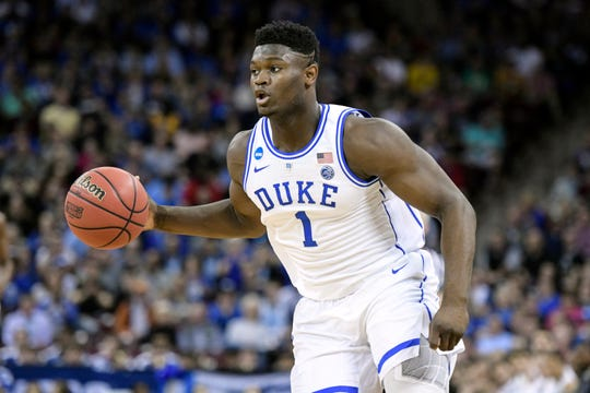 Duke forward Zion Williamson was named the John R. Wooden Men's Player of the year at the College Basketball Awards ceremony on Friday.