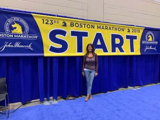 Darlene Crete, a Collier County teacher running the Boston Marathon  for the first time Monday.
