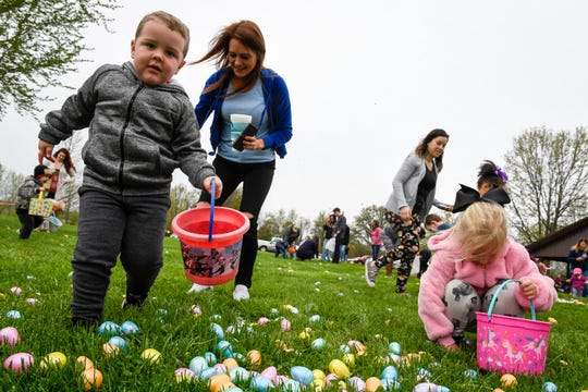 A big Easter egg hunt held by Henderson's First United Methodist Church is planned for Saturday, April 20, at John James Audubon State Park.