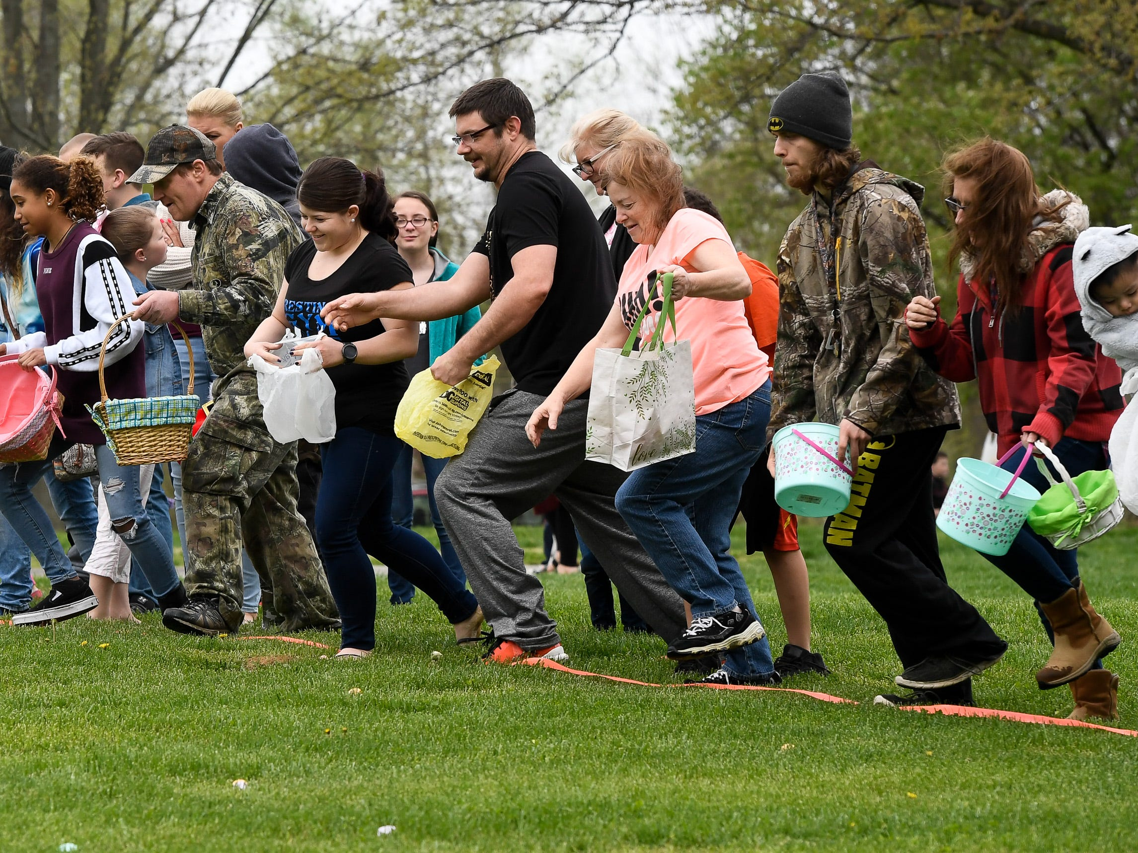 Start of the adult egg hunt at the City of Henderson Parks and Recreation Department's annual Easter Egg Hunt Saturday, April 13, 2019.