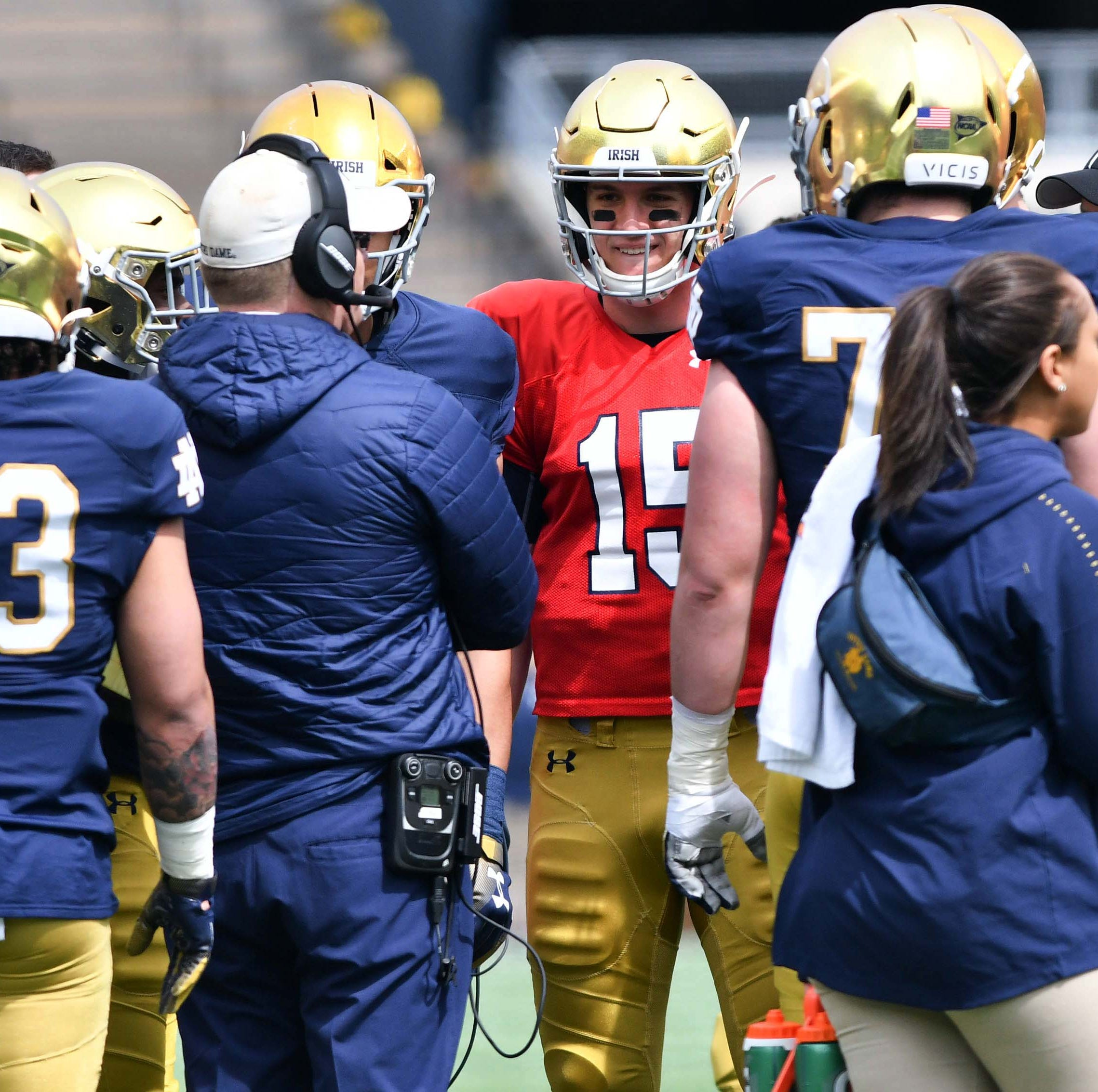 Phil Jurkovec rates himself after Notre Dame spring game: 'Pretty terrible'