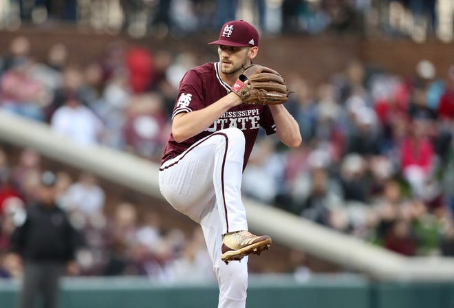 Mississippi State starting pitcher Ethan Small had a career-high 15 strikeouts in the Bulldogs' win Friday night over Alabama.