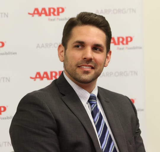 Jackson mayoral candidate Scott Conger attended an AARP-sponsored mayoral forum on issues affecting senior citizens at the LIFT in Jackson on Saturday, April 13.