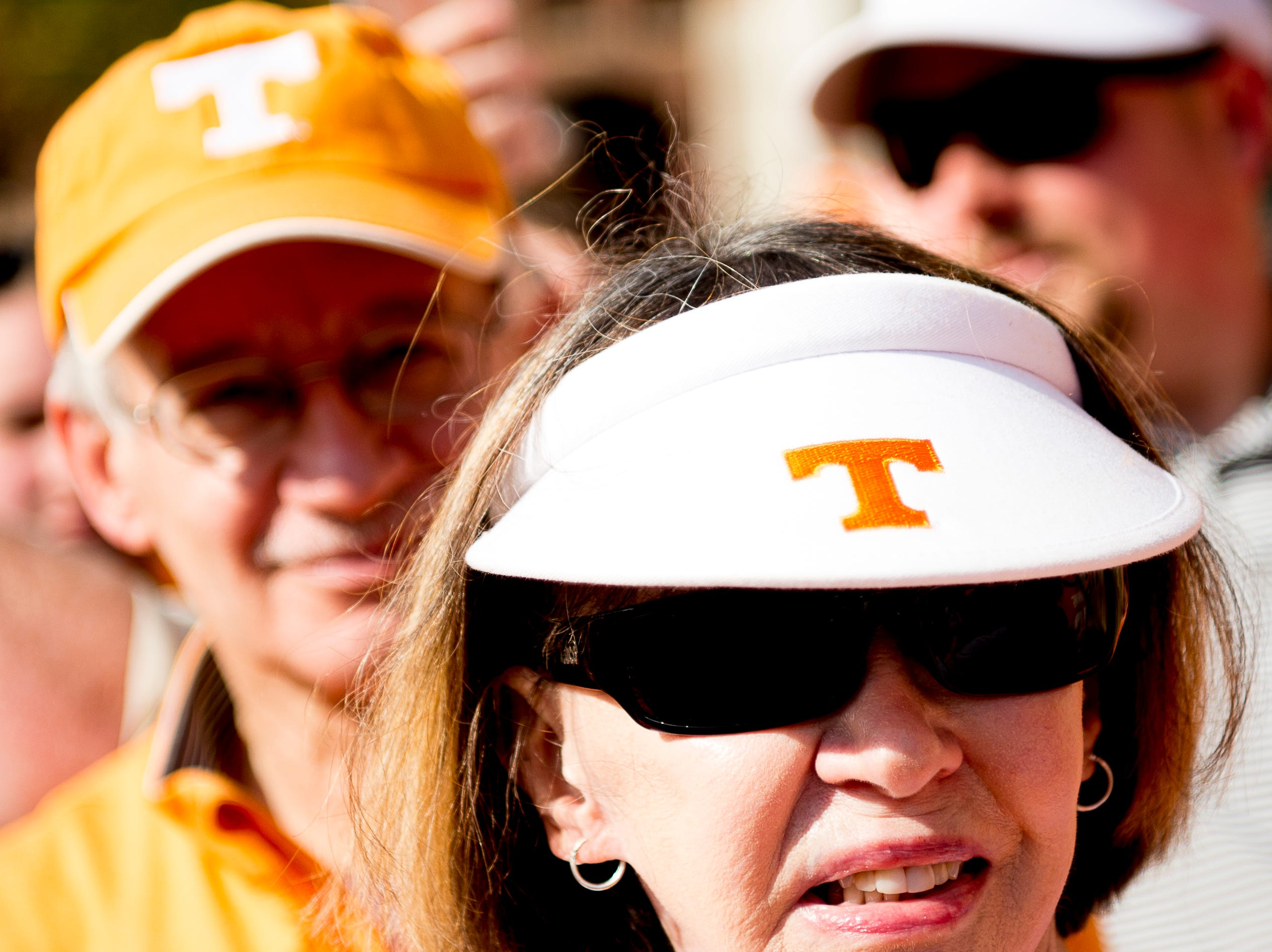 Fans during the Vol Walk at the Tennessee Spring Game at Neyland Stadium in Knoxville, Tennessee on Saturday, April 13, 2019.