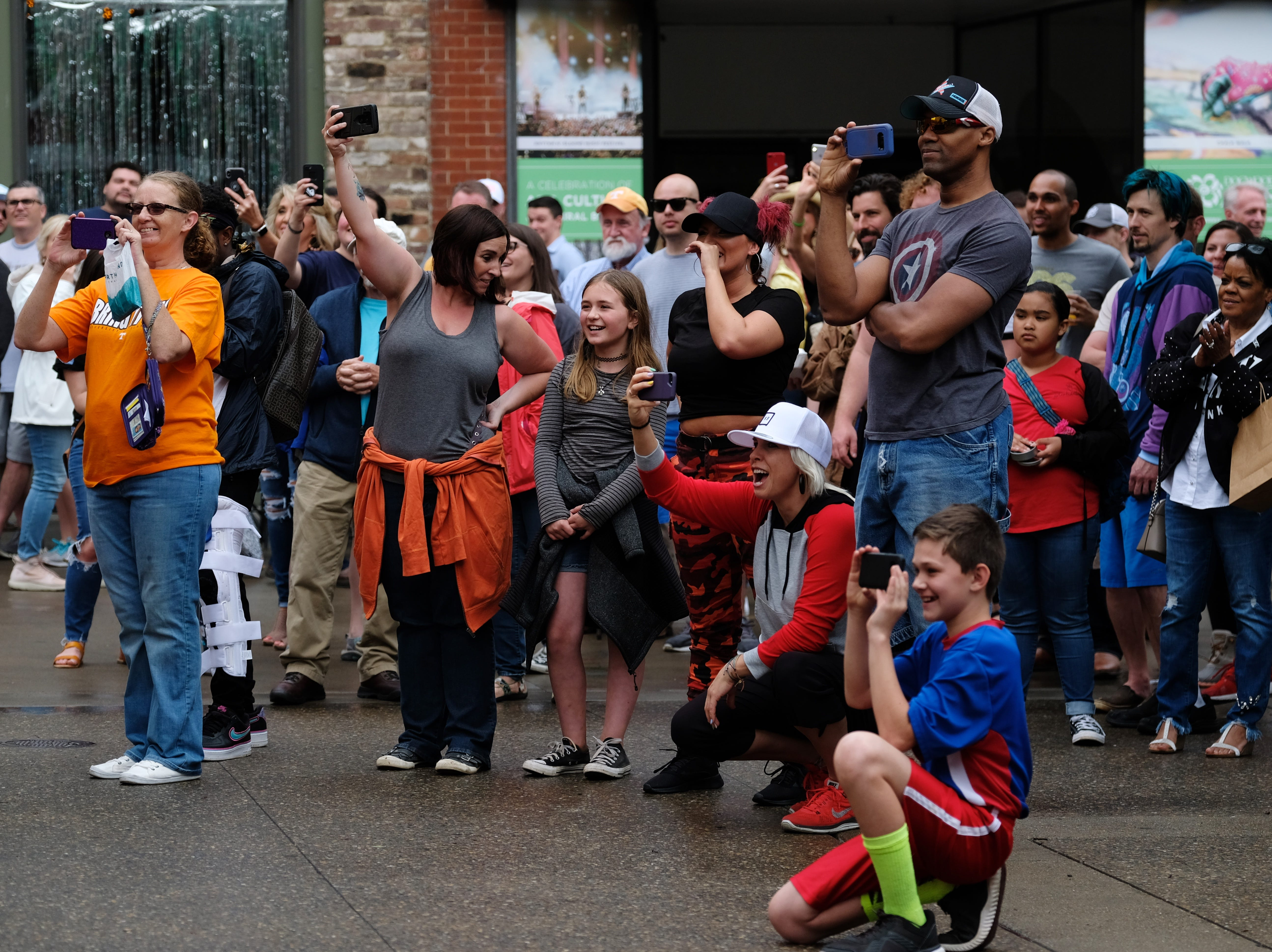 Attendees watch as the Broadway Academy performs during the Rossini Festival in Knoxville on Saturday, April 13, 2019. (Shawn Millsaps/Special to News Sentinel)