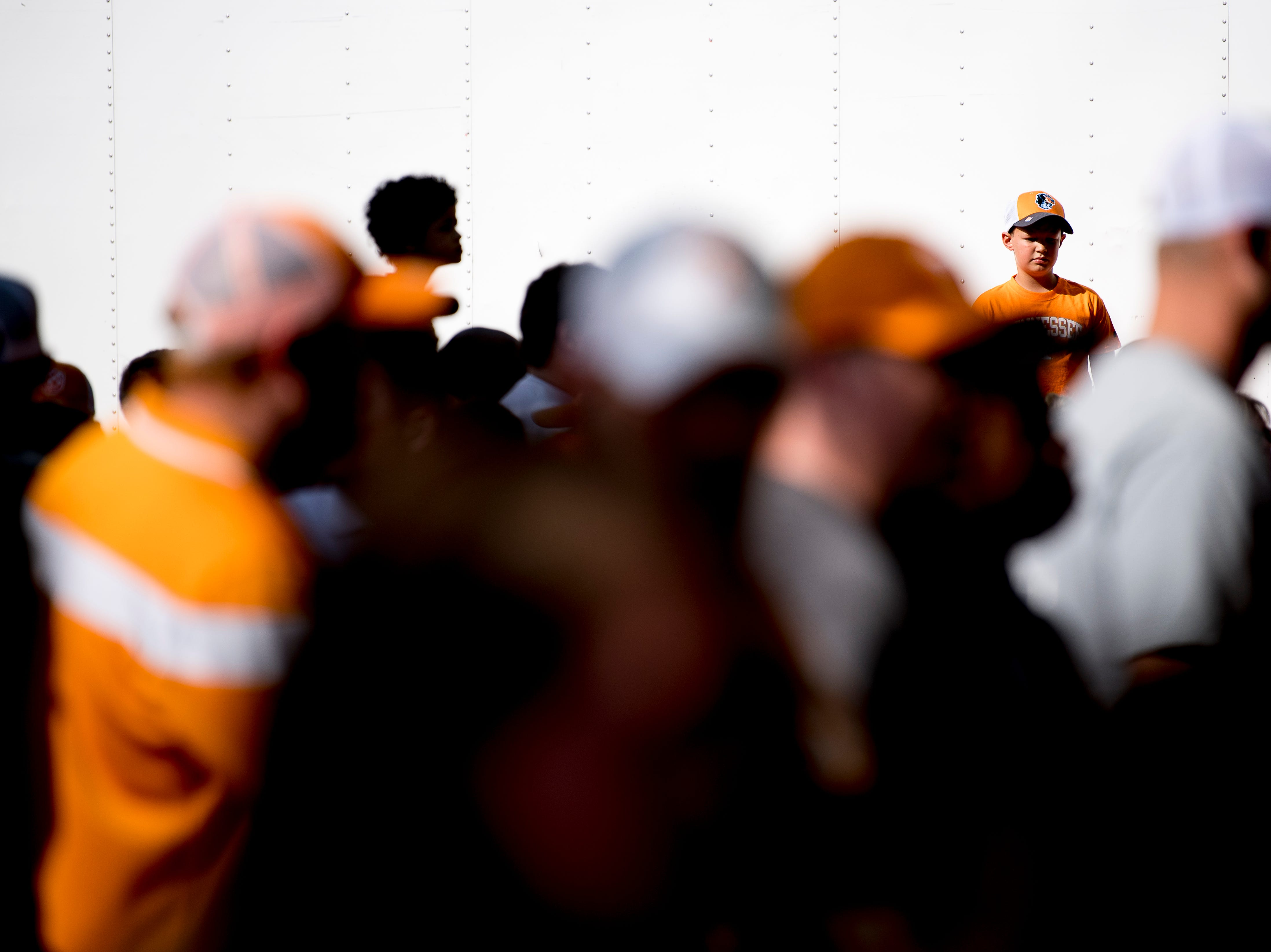 Tennessee fans flood to the gates during the Vol Walk at the Tennessee Spring Game at Neyland Stadium in Knoxville, Tennessee on Saturday, April 13, 2019.