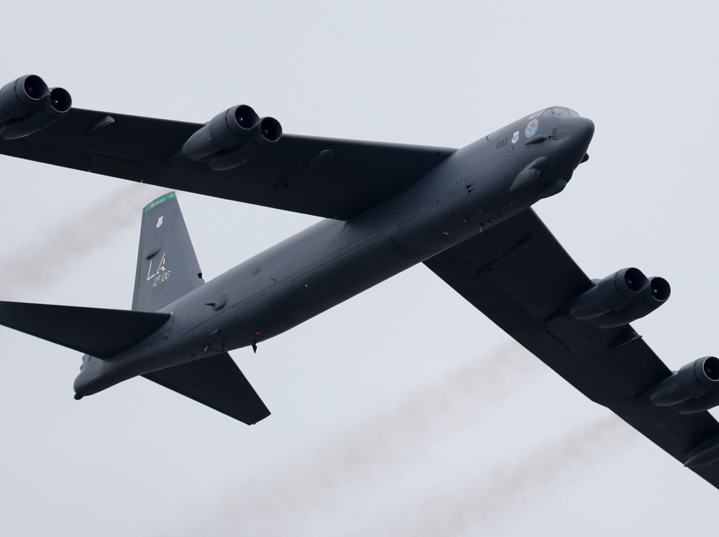 A B-52 entertains the crowd at Thunder Over Louisville on April 13.