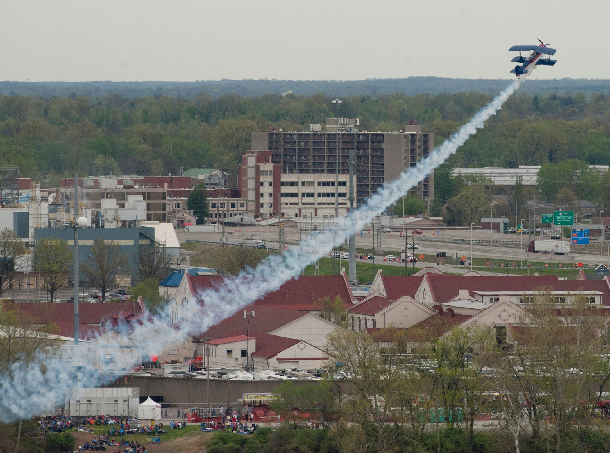 Billy Werth's Pitts S2C shows off at the 2019 Thunder Over Louisville Air Show.13 April 2019