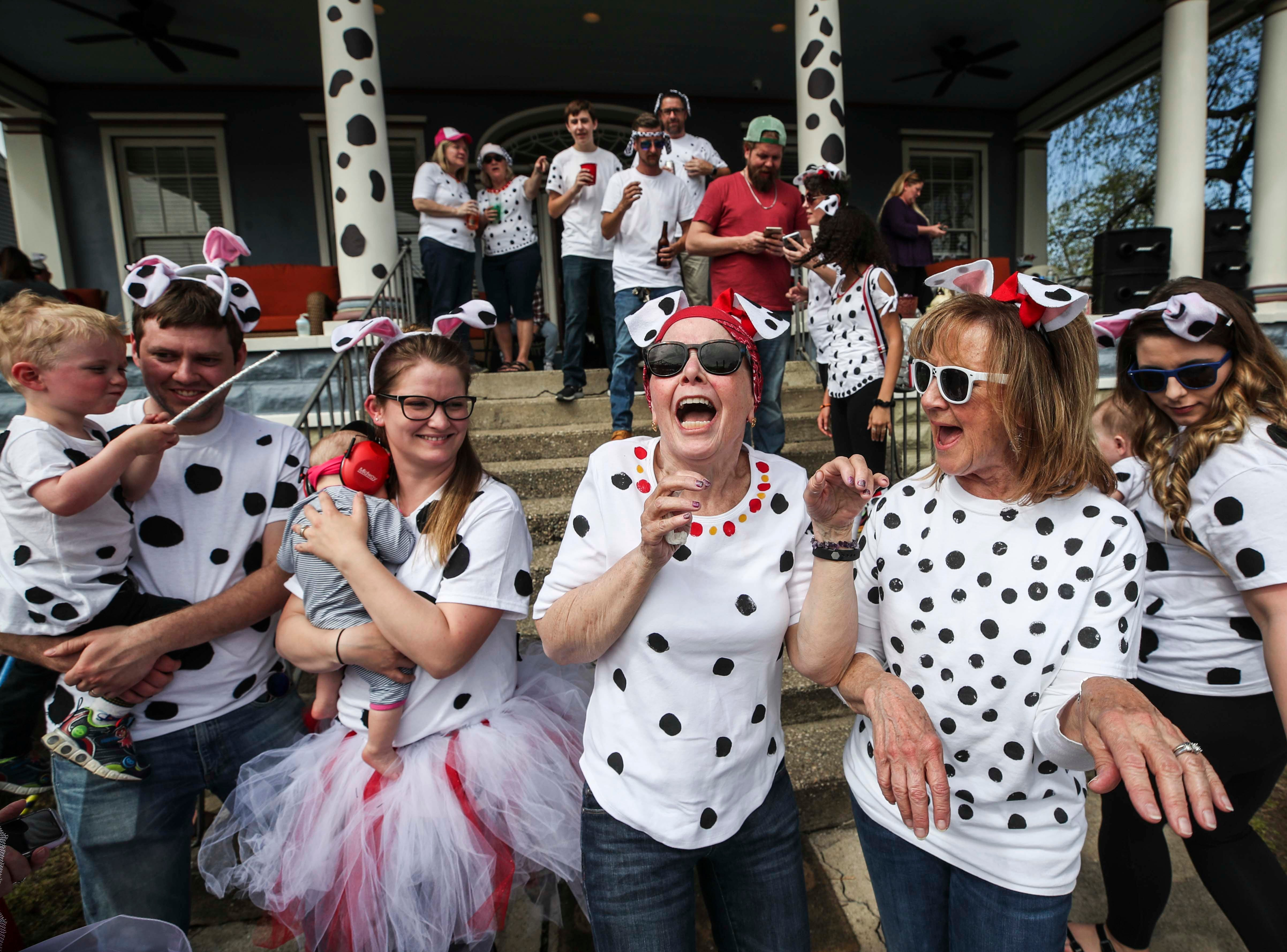 It was a 101 Dalmatian-themed party at the Boome residence near the Big Four Bridge in Jeffersonville during 2019 Thunder Over Louisville. April 13, 2019