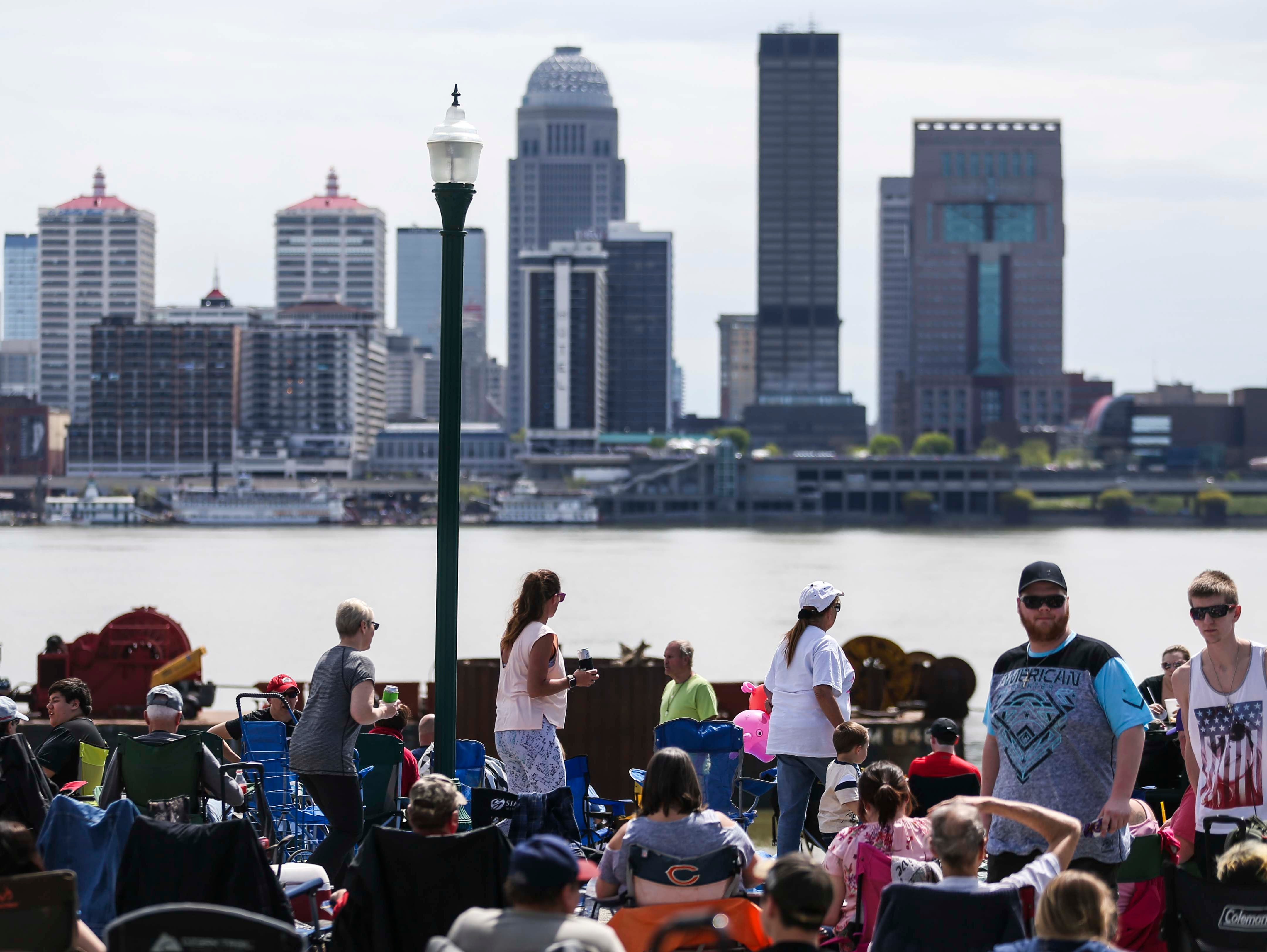Scenes from Thunder Over Louisville from the Indiana riverfront. April 13, 2019