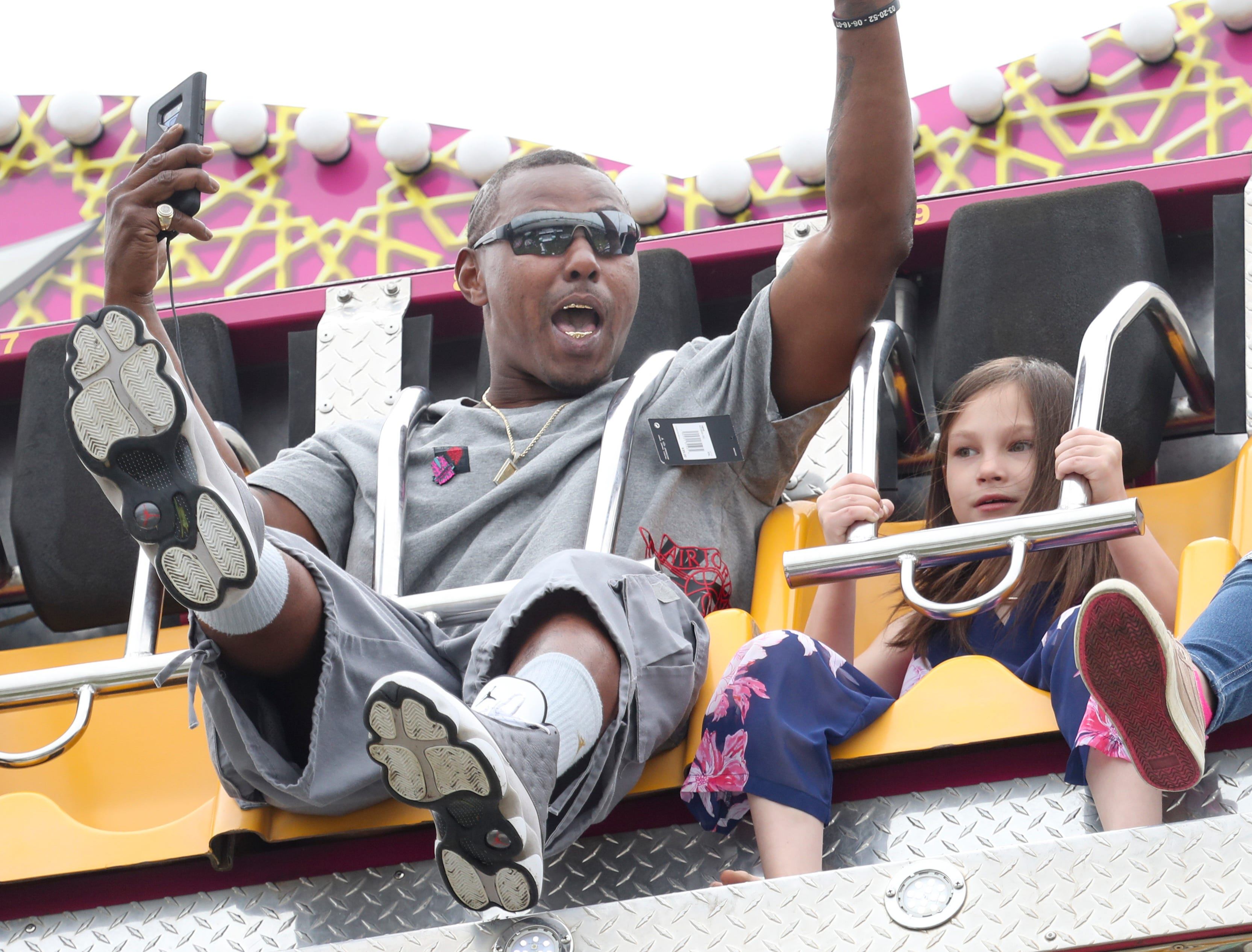 Thomas Coleman was having a blast on the rides at Thunder Over Louisville on April 13.
