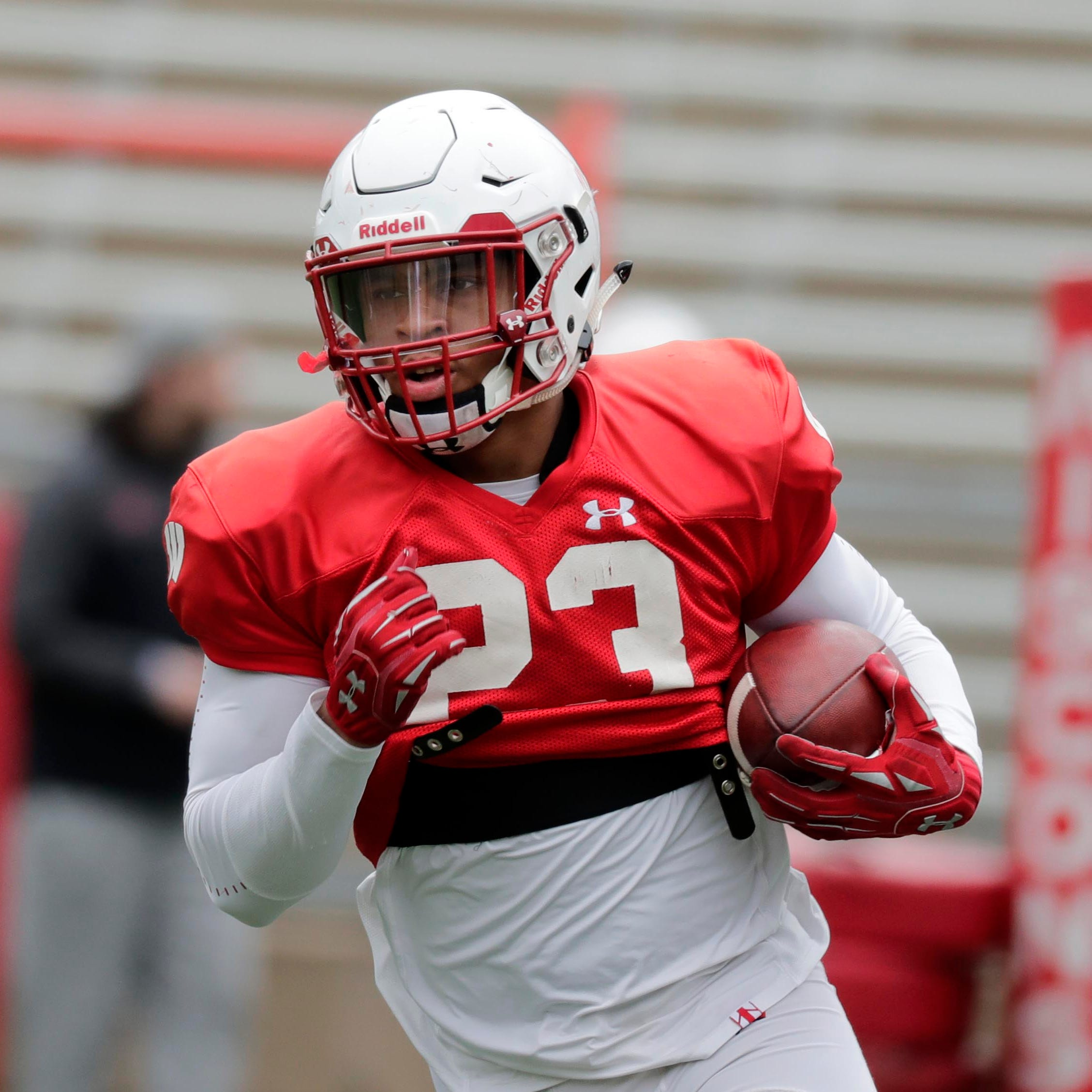 Running back Jonathan Taylor is the latest Badgers football player to join the track team