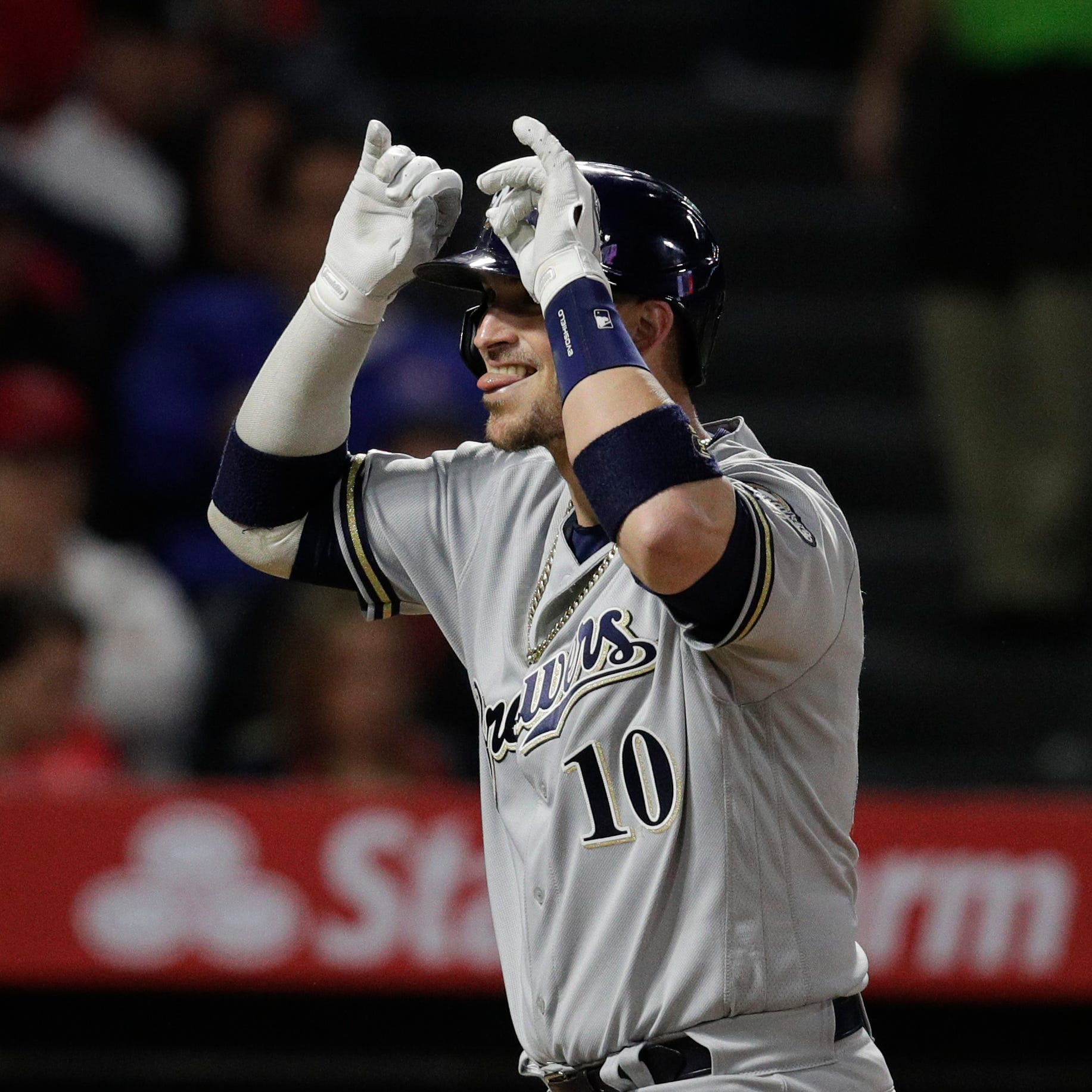 Brewers catcher Yasmani Grandal has bigger things on his mind than another NL championship ring