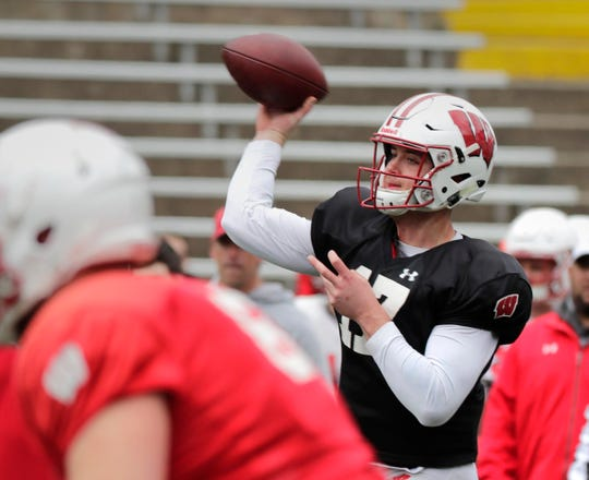 Wisconsin S Jack Coan Shows Poise Of A Leader At Quarterback
