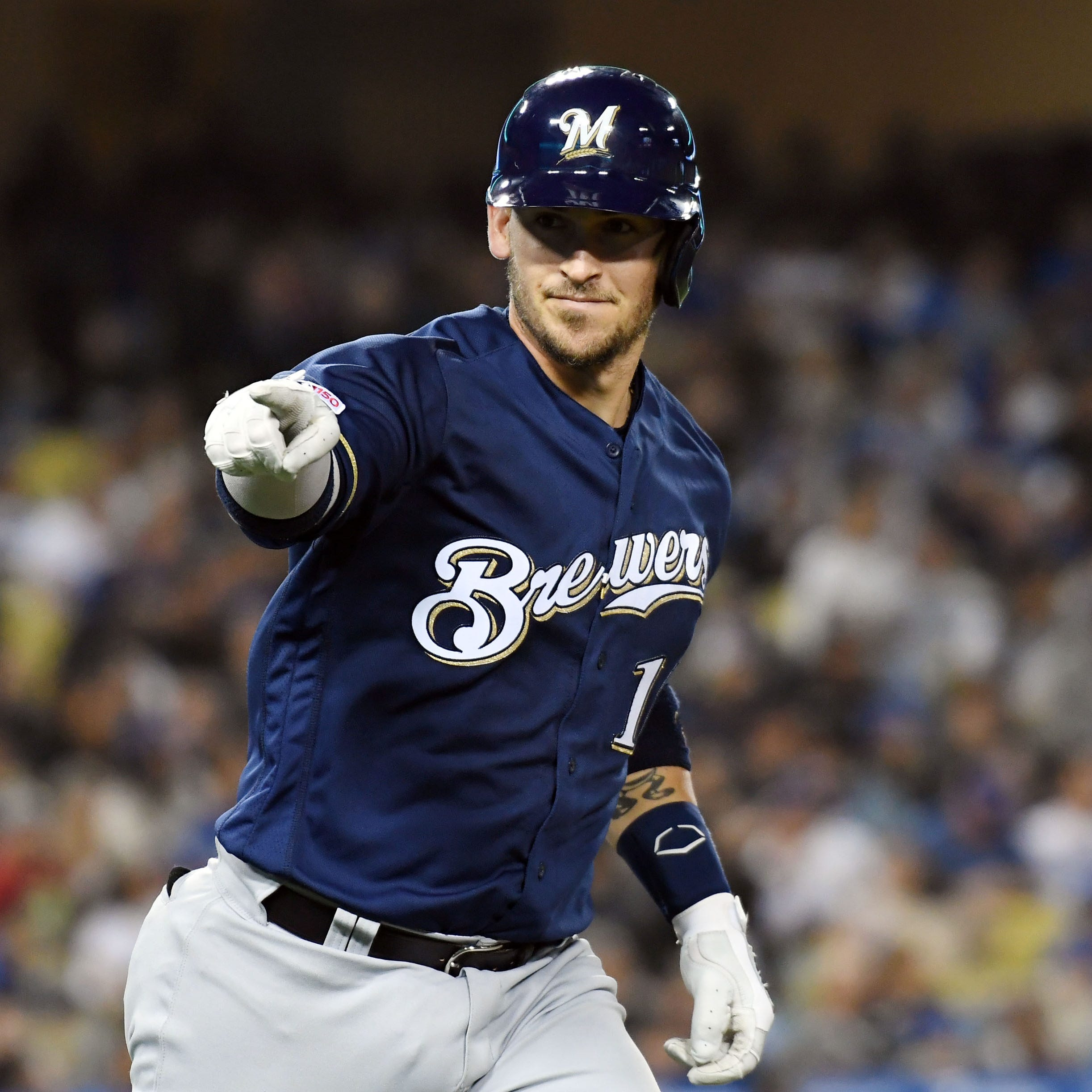 Yasmani Grandal gets a start at first base as the Brewers search for answers at that spot