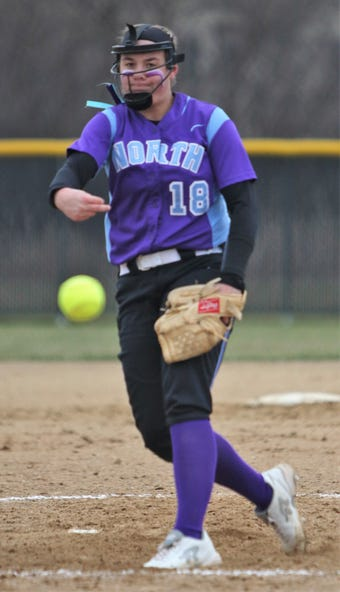 The Waukesha North senior pitcher punched out 16 batters as she allowed no base hits and no walks in a 3-0 win over the Warriors.