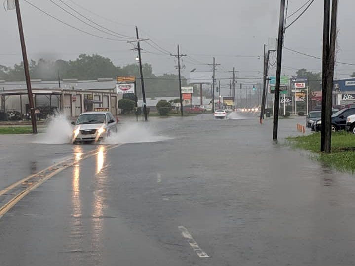 Several streets in West Monroe were closed Saturday due to flash flooding.