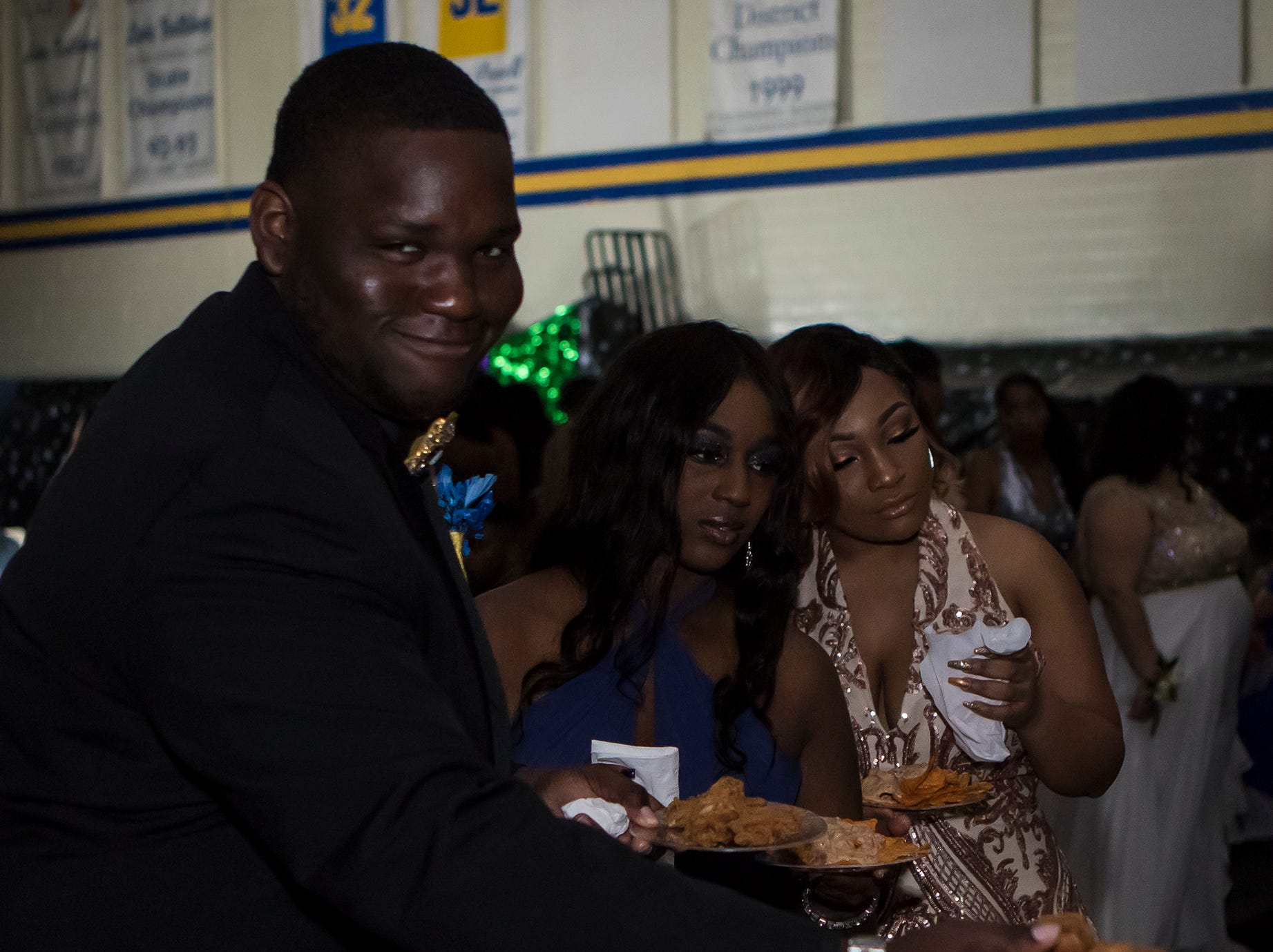 Carroll High School held its prom at the school's gym on April 12 in Monroe, La.