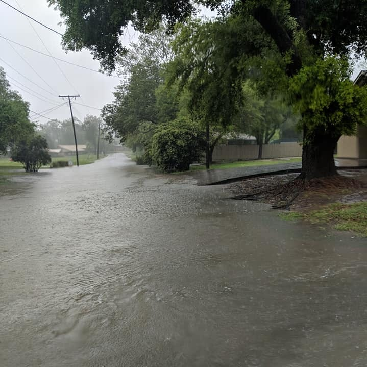 Several streets in West Monroe closed Saturday due to flash flooding.