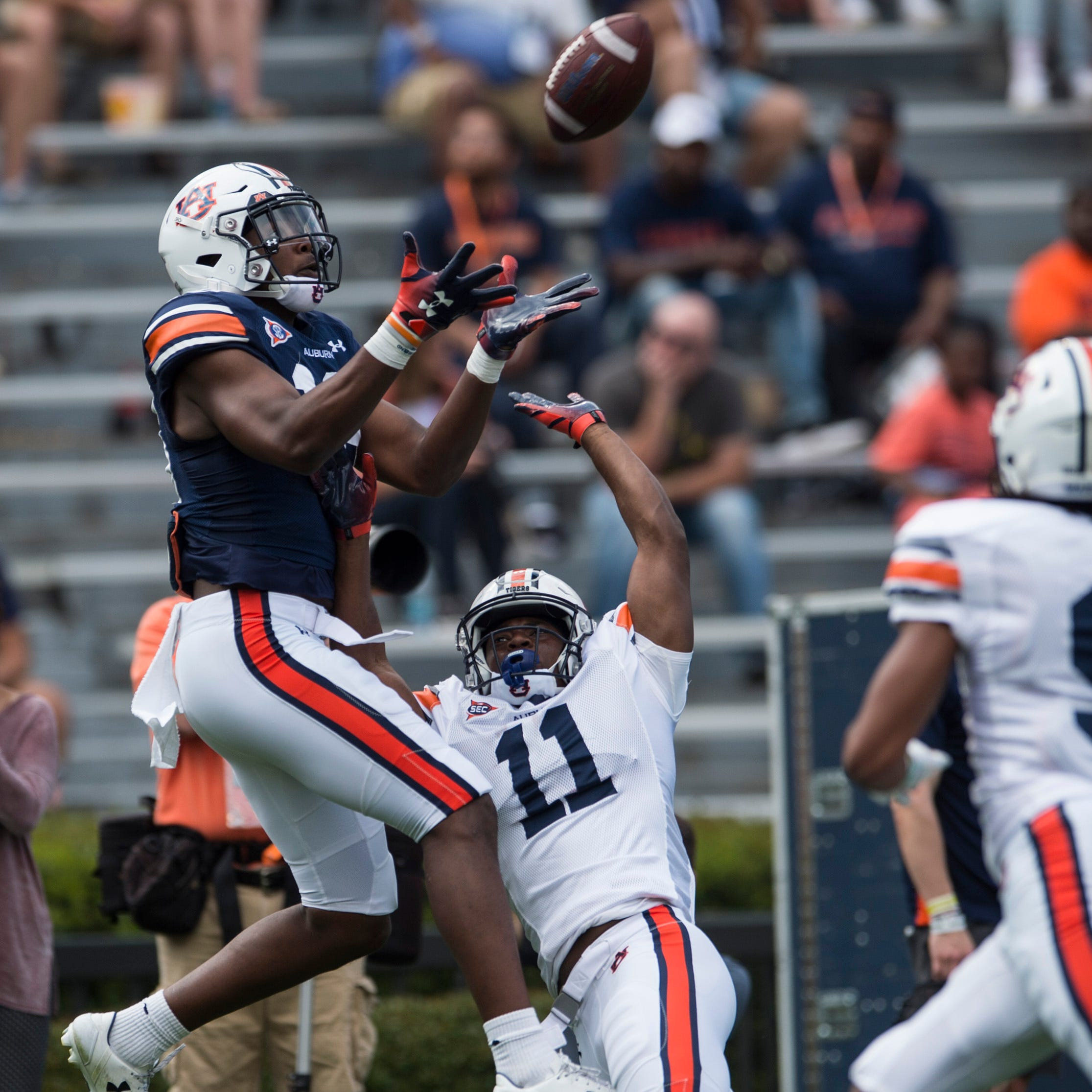 Non-QB A-Day observations: Williams leads explosive WR group, OL far improved, Wooten injured