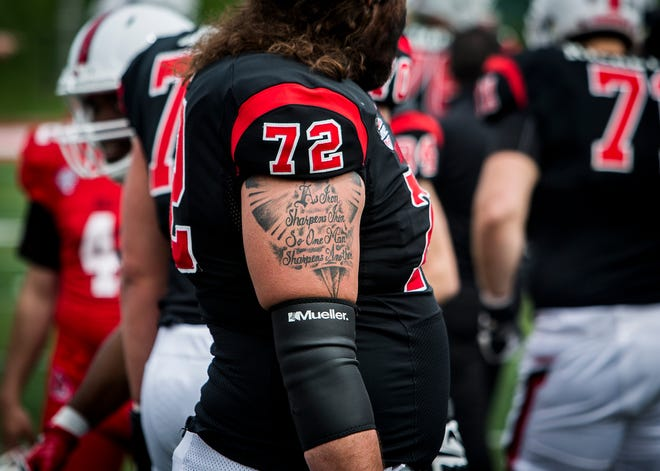 Ball State's Anthony Todd stands on the sideline during the annual Spring Game at Scheumann Stadium Saturday, April 13, 2019.