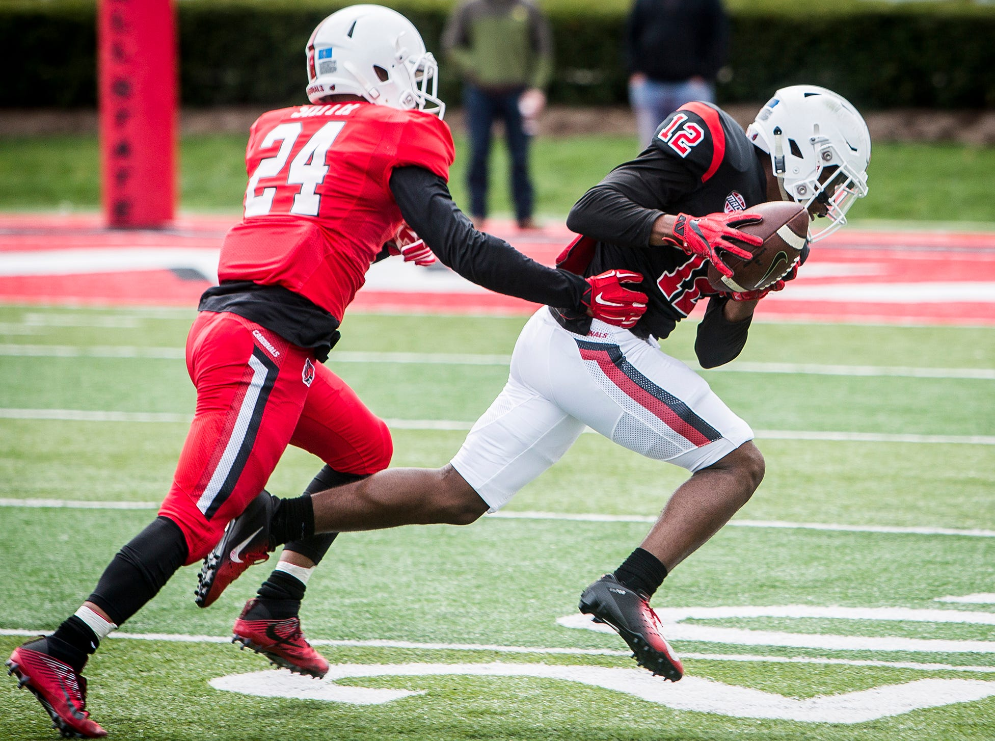Ball State played its annual Spring Game at Scheumann Stadium Saturday, April 13, 2019.