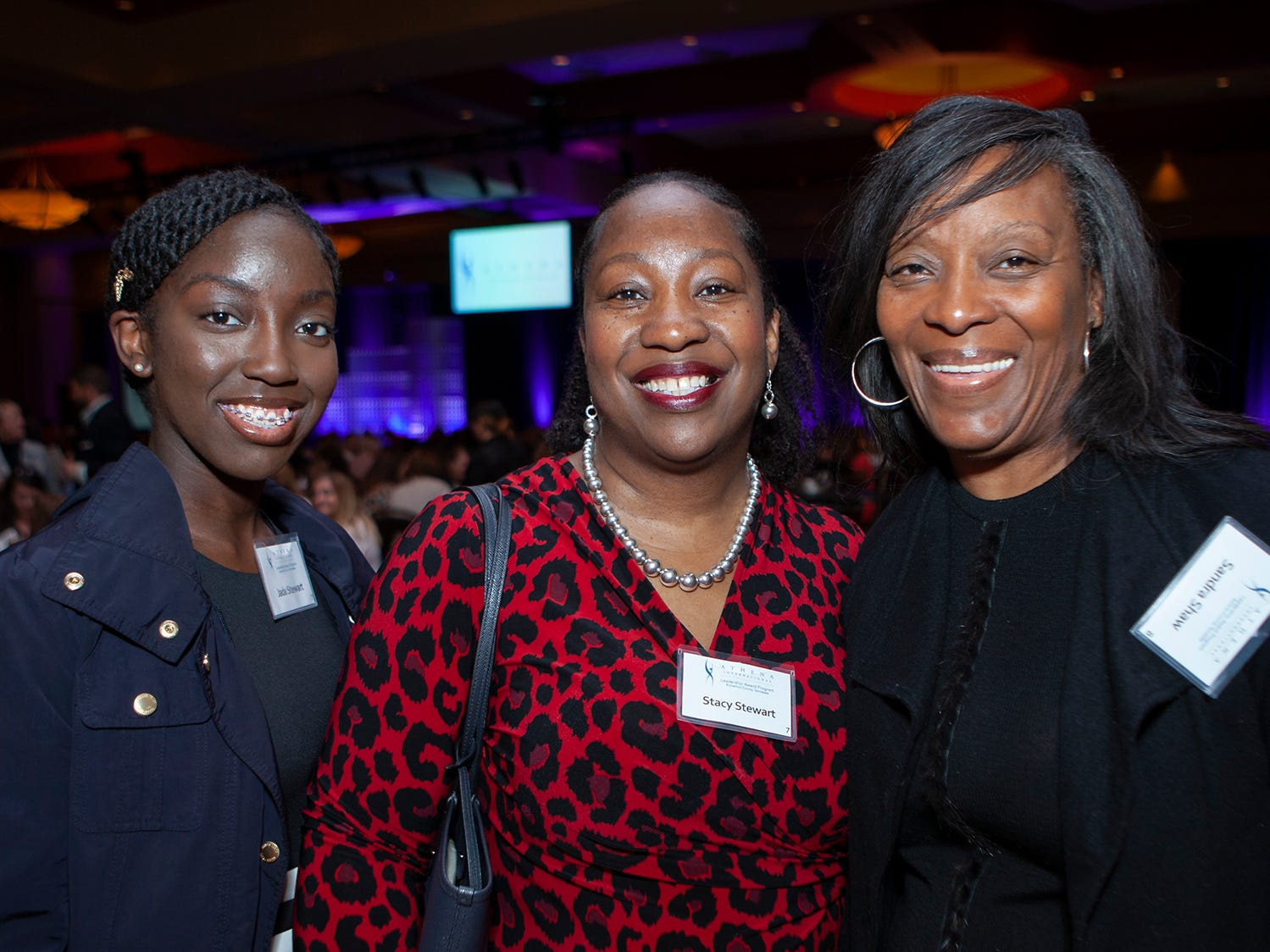 Jada Stewart, Stacy Stewart and Sandra Shaw were on hand for the annual ATHENA Leadership Awards, hosted by Rutherford Cable Friday, April 12, 2019 at Embassy Suites Murfreesboro.